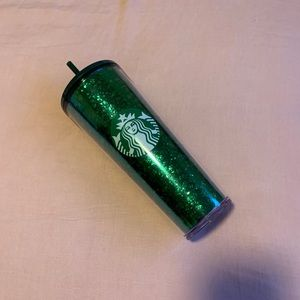 NEW GREEN SPARKLY TUMBLER